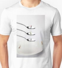 People Playing Golf On Spoons T-Shirt