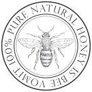 100% Pure Honey is Bee Vomit Vintage Logo by Rebecca Barkley