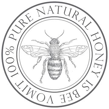 100% Pure Honey is Bee Vomit Vintage Logo by beckyb