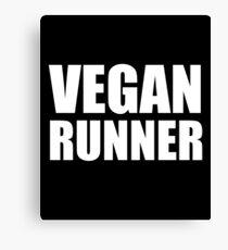 Vegan Runner Canvas Print