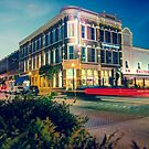 Bentonville Arkansas Downtown Square at Dusk by Gregory Ballos