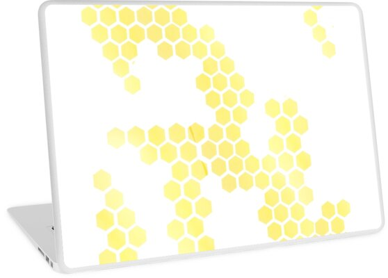 Ombre Honeycomb Print by sketchanddoodle