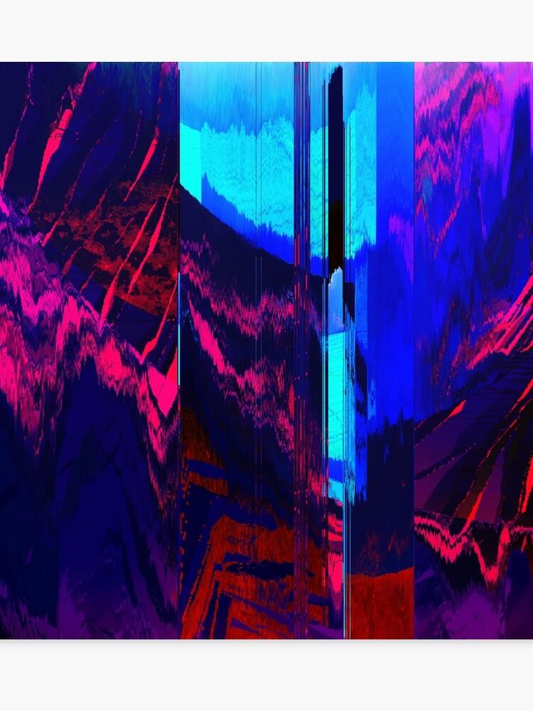 Retro Wave Glitch Blast - Glitch Art Print | Canvas Print