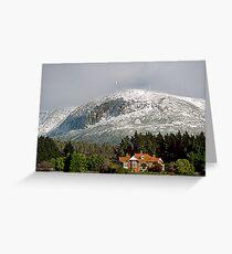 Mt Wellington snow beauty Greeting Card