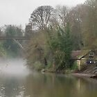Fog on the Wear in Durham by Tony Blakie