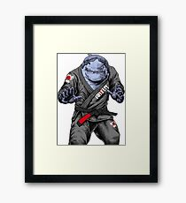 BJJ Shark Framed Print