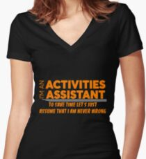ACTIVITIES ASSISTANT Women's Fitted V-Neck T-Shirt