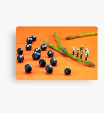 Blueberry Protesting Canvas Print