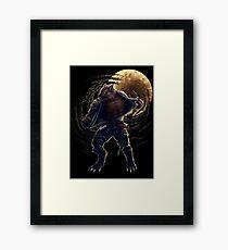 BJJ Werewolf Framed Print