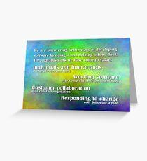 Agile Manifesto Greeting Card
