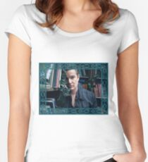 James Masters as Spike in Buffy Women's Fitted Scoop T-Shirt