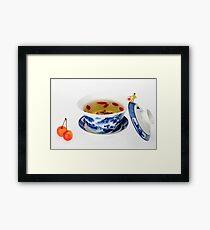 Making Longjing Tea traditional chinese culture  Framed Print
