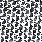 Black Chalkboard Rabbit Pattern by Robayre
