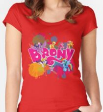 my little pony brony Women's Fitted Scoop T-Shirt