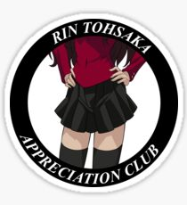 Rin Tohsaka Appreciation Club Sticker Sticker