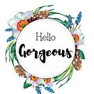 Hello Gorgeous - Spring floral watercolor design by vasylissa