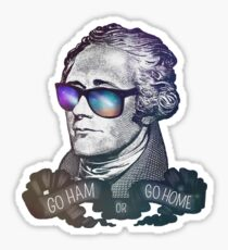 Go Ham Or Go Home Sticker