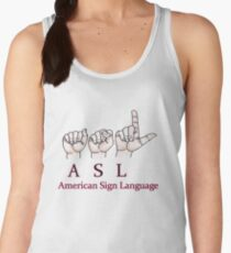 ASL American Sign Language Women's Tank Top