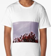 Red Treetops  Long T-Shirt