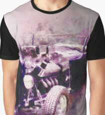 32 Ford Low Boy Roadster Watercoloured Sketch Graphic T-Shirt