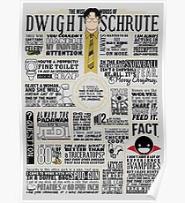 The Wise Words of Dwight Schrute (Light Tee) Poster