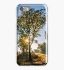 mountain curve road near the forest iPhone Case/Skin