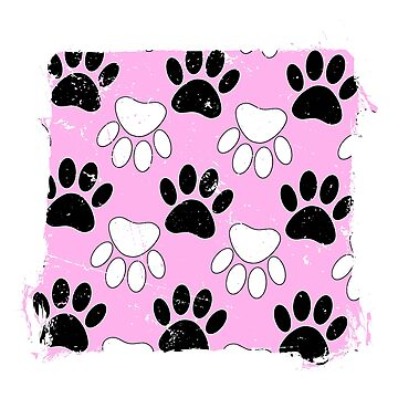 Dog Paws On Grunge Pink Background by Braznyc