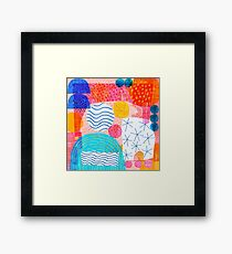 Felt Pen Happiness  Framed Print