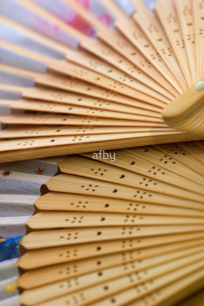 Oriental wooden fan by afby
