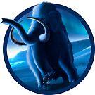 Tundra Mammoth and Auroraa by Mark A. Garlick