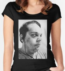 Self-Portrait Stippling Women's Fitted Scoop T-Shirt