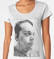 Self-Portrait Stippling Women's Premium T-Shirt