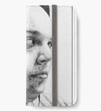 Self-Portrait Stippling iPhone Wallet/Case/Skin