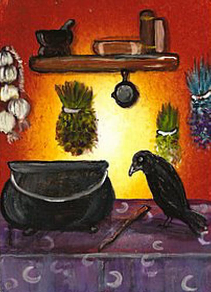 Witchy Kitchen Crow by artbyskym