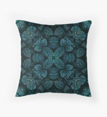 Leafy Lace Mandala Throw Pillow