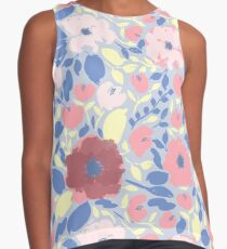 Pink and Red Anemone Floral Pattern Contrast Tank