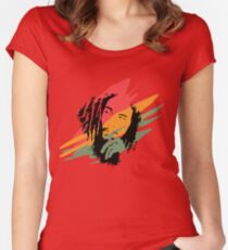 Bob marley Women's Fitted Scoop T-Shirt