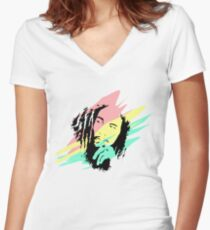 Bob marley Women's Fitted V-Neck T-Shirt
