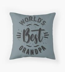 Best Grandpa Throw Pillow