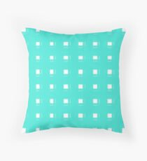 Hatched Turquoise Stripes Pattern Design Throw Pillow