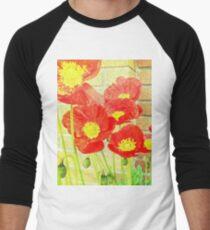 Poppyfied Men's Baseball ¾ T-Shirt