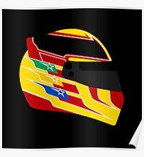 Lewis Hamilton Helmet Illustration Poster