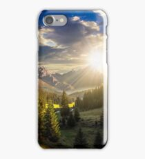 valley between at sunset iPhone Case/Skin