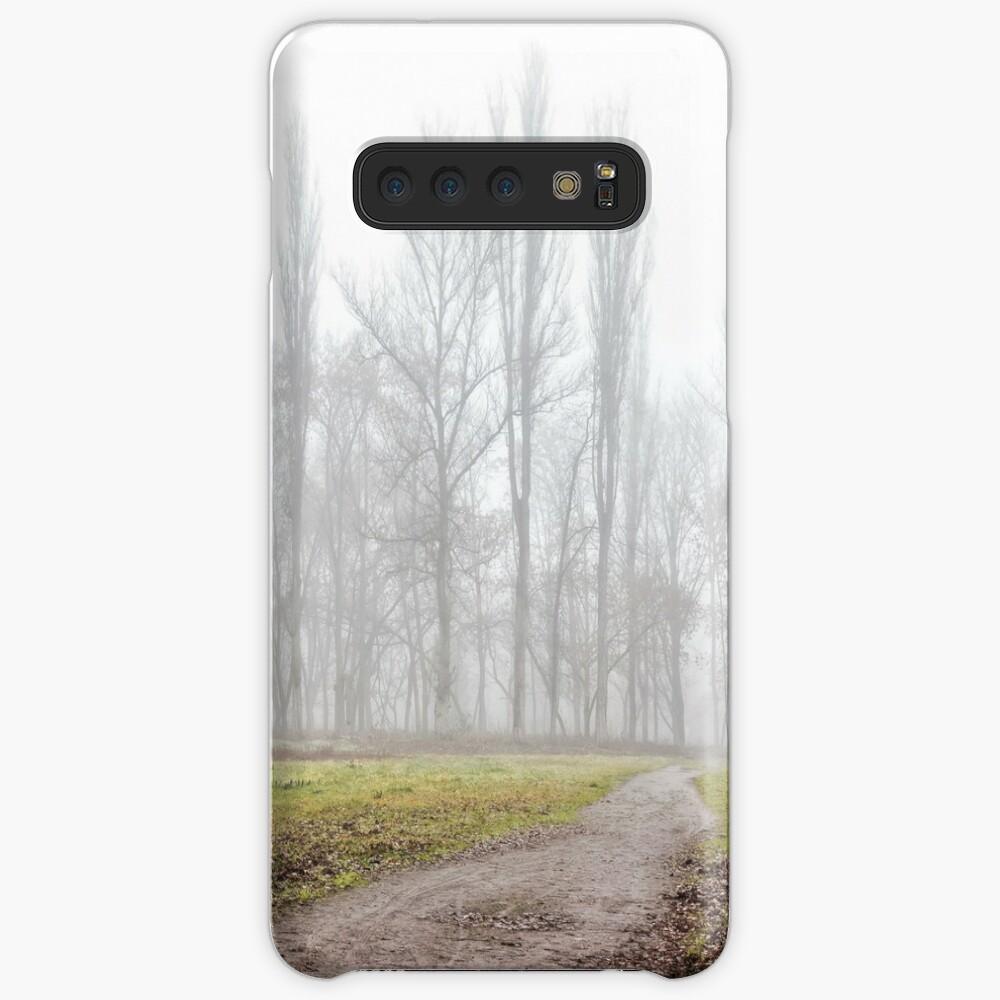 autumn park in fog Samsung Galaxy Snap Case