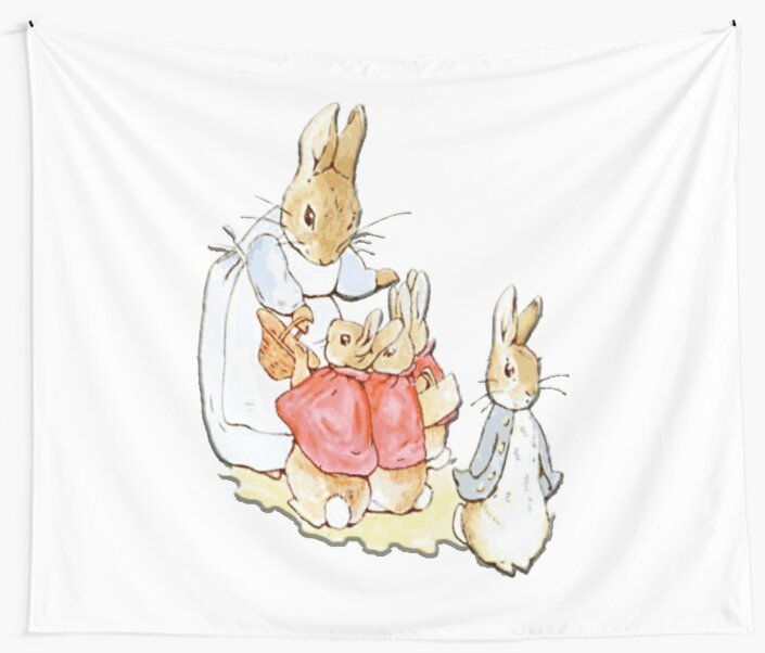 Nursery Characters, Peter Rabbit, Beatrix Potter  by TOM HILL - Designer