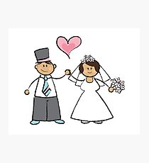 Just Married! Photographic Print