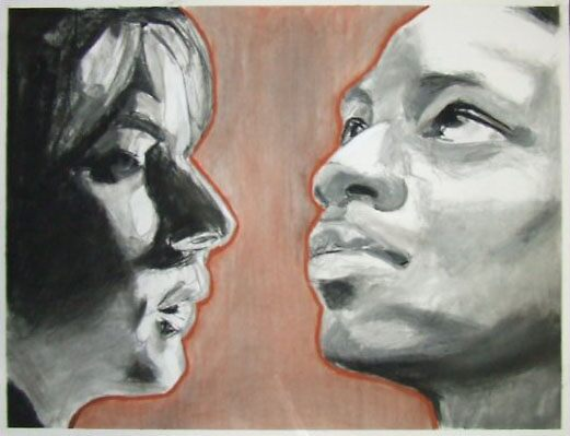 Study of Two Heads by William  Thomas