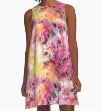 Fluid Painting Sommer Muster A-Line Dress
