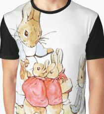 Nursery Characters, Peter Rabbit, Beatrix Potter  Graphic T-Shirt