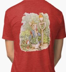 PETER RABBIT, Nursery Characters, Peter Rabbit, eating radishes, The Tale of Peter Rabbit Tri-blend T-Shirt